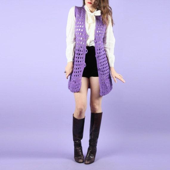 70s Vintage Vest // Crochet Vest // Vintage Croche