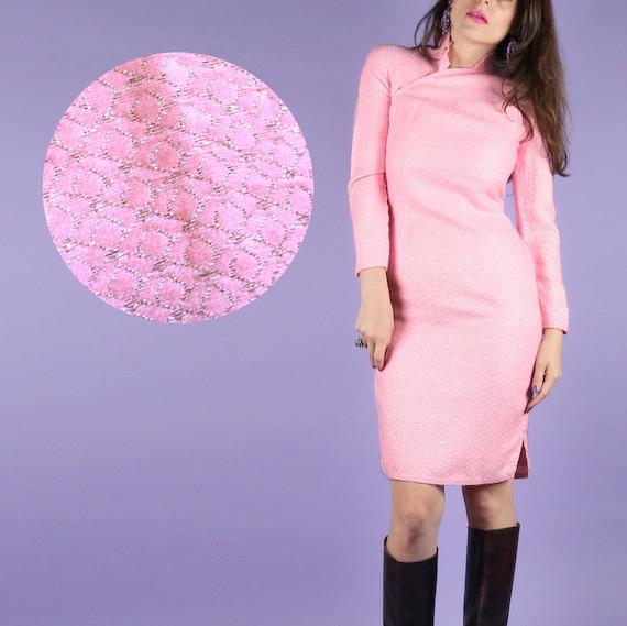 60s Vintage Cheongsam // Vintage Cheongsam // Pink