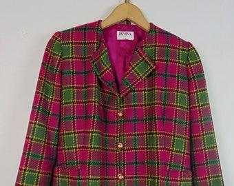 Vintage Pink Tartan Jacket