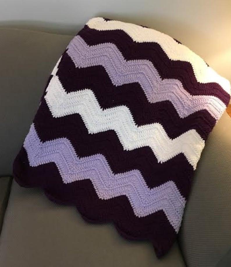 Medium Chevron Crocheted Blanket