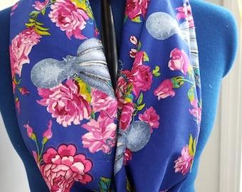 Floral - octopus - nautical - ocean - roses - mermaid  - single - loop -  infinity  - scarf
