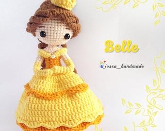 Princess Belle Inspired Crochet Doll Pattern (Amigurumi Doll Pattern / PDF Crochet Doll Pattern / English Pattern)