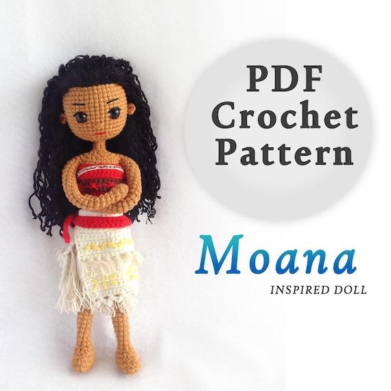 Crochet Doll Pattern / Amigurumi Doll Pattern / Moana Princess | Etsy