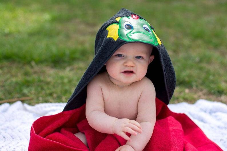 Dragon Hooded Towel for Kids Kids Bath Towel Summer Break Celebration