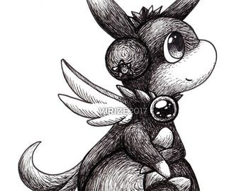 Puzzle & Dragons: Blueberry Dragon [ORIGINAL]