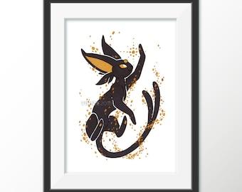 Gilded Eeveelutions Series: Espeon [5x7 PEARL METALLIC PRINTS]
