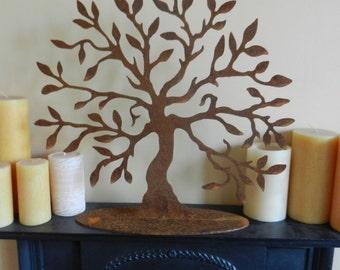 Tree of Life Gift Lge / Rusty Metal Tree Sculpture / Rustic Home Decor / Mantle piece Art / Rustic Tree Decor / Tree Decoration /Tree Statue