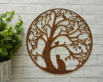Superbe Tree Of Life Wall Decor / Rusty Metal Wall Art / Tree Garden ...