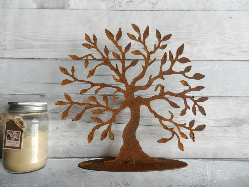 Tree Of Life Rustic Home Decor Rusty Metal Sculpture