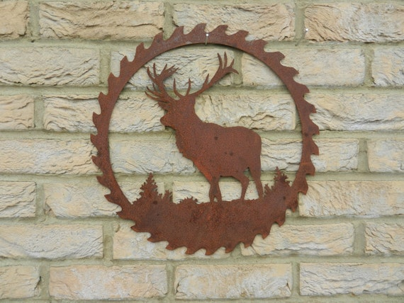 Stag Wall Art / Rusty Metal Garden Decoration / Stag Gift / | Etsy