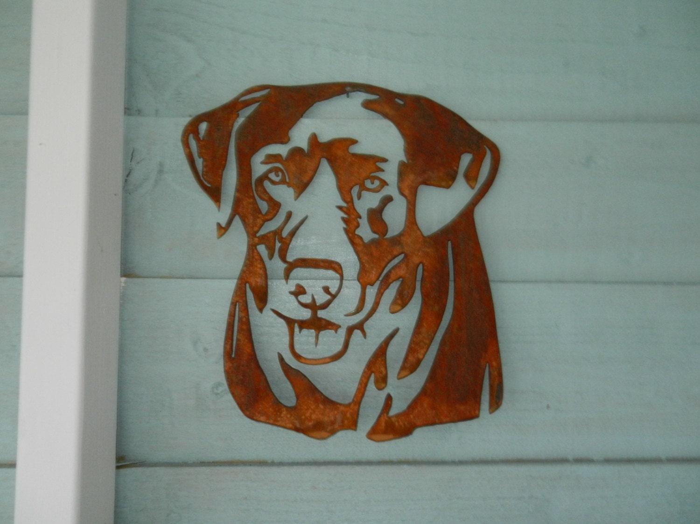 Labrador Head / Rusty Metal Dog Art/ Labrador Retriever Garden   Etsy