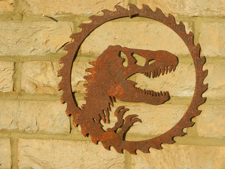 Dinosaur Wall Art / Jurassic Park Wall Art / Metal Dinosaur | Etsy