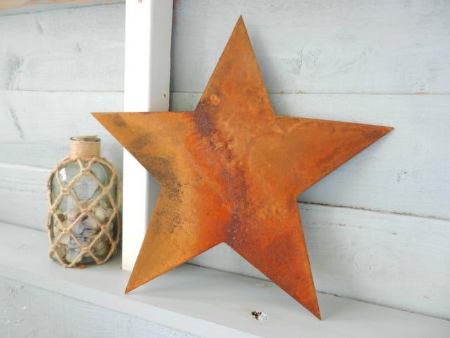 Rusty Metal Star / Star Wall Decor / Metal Garden Decor / | Etsy