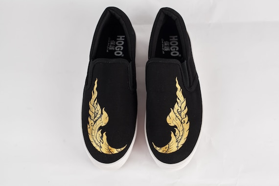 Loafers, Handpainted slip-ons, Canvas shoes, Sneak
