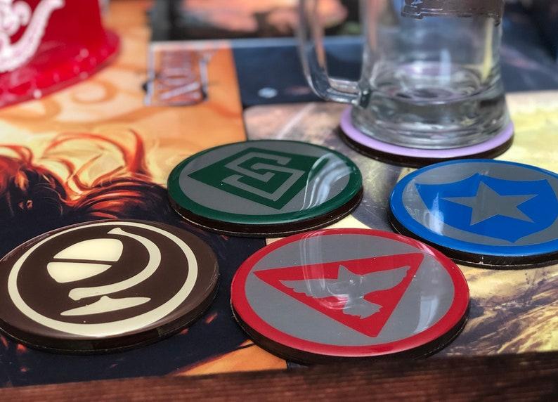 Class Symbol Drink Coasters image 0