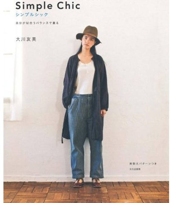 SIMPLE CHIC Clothes Japanese Sewing patterns Books pattern | Etsy