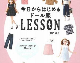 Doll Clothes Sewing Book  Japanese Craft Book clothes Doll culture doll Sewing