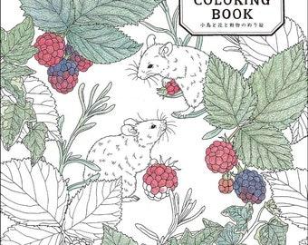 garden COLORING BOOK Japanese Craft Book Coloring book