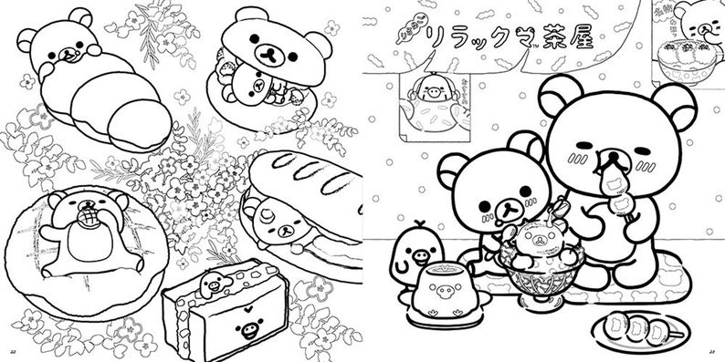 Healing Rilakkuma coloring book lesson book Japanese Craft ...