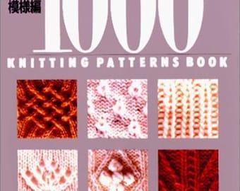1000 KNITTING PATTERNS BOOK (700 Knit & 300 Crochet) Japanese Craft Book pattern knitting Weave connect explains Crochet