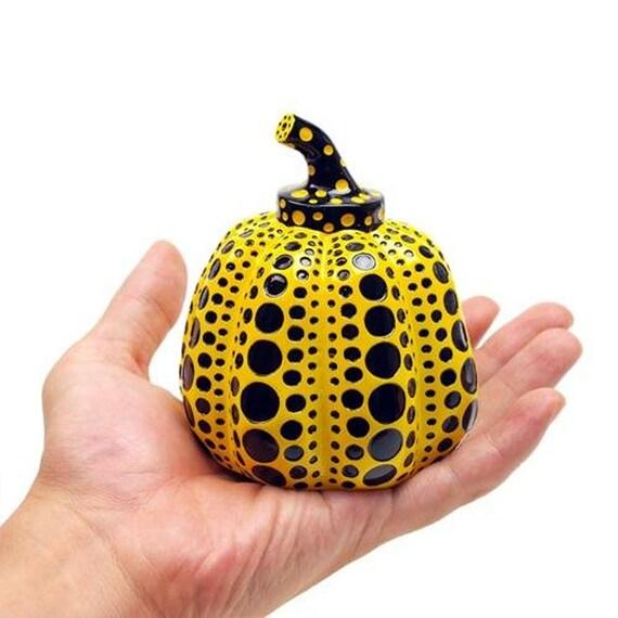 Yayoi Kusama Coin pumpkin object purse wallet dot yellow from Japan free ship