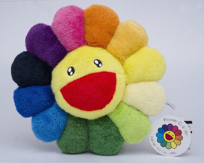 7ca31c8367ae Takashi Murakami Flower Cushion Rainbow Mini Kaikai Kiki