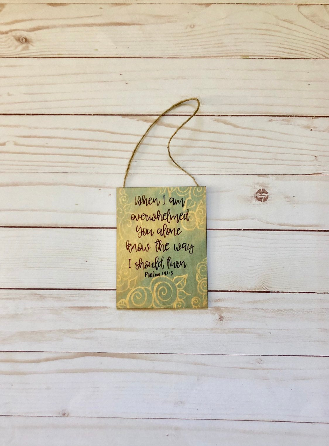 Encouragement Bible Verse Wall Art Small Wood Scripture Wall Sign Lead Me Lord Religious Rustic Decor Cancer Gift Christian Motivation