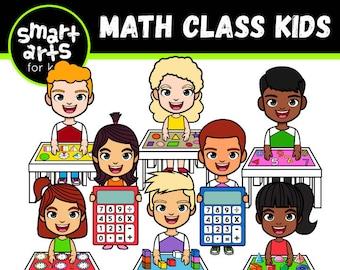 Math Class Kids Clip Art- Cartoon -  - instant download - SVG - Vector - png clipart - math class- smart arts for kids- smart arts for kids