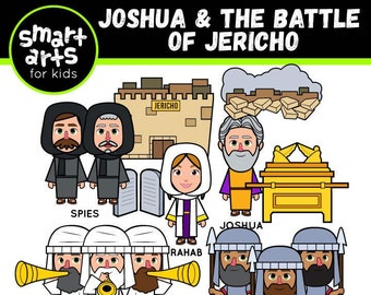 Joshua and Battle of Jericho Clip Art- bible based - bible characters - VBS - instant download - SVG Cricut - sunday school - bible story