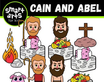 Cain and Abel Clip Art- bible based - bible characters - VBS - instant download - SVG Cricut - Vector - sunday school - bible story