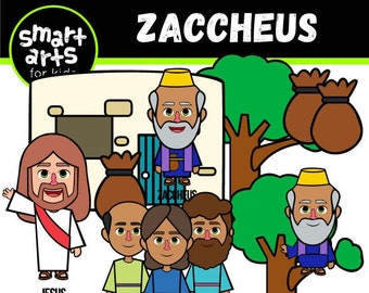 Zaccheus Clip Art - bible based - bible characters - SVG Cricut - VBS - png clip arts - sunday schoool - instant download - bible story