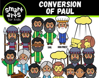 Conversion of Paul Clip Art - bible based - bible characters - SVG Cricut - sunday school - VBS - instant download - bible story