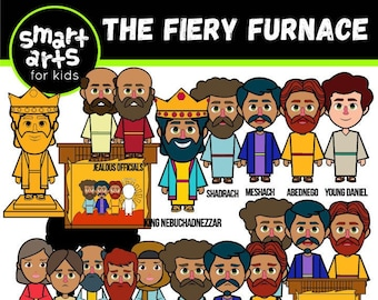 The Fiery Furnace Clip Art- bible based - bible characters - VBS - instant download - SVG Cricut - sunday school - bible story