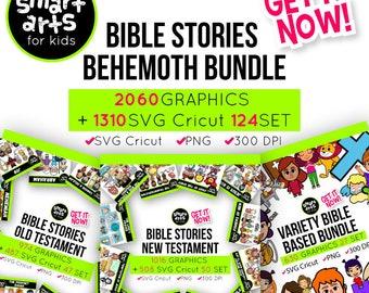 Bible Stories Clip Art Bundle - bible clip art - instant download - SVG cricut - VBS - png clipart - bible stories - bundle