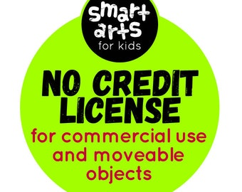 Smart Arts for Kids No Credit Required Commercial License - Commercial Use - 1 license per set/bundle only
