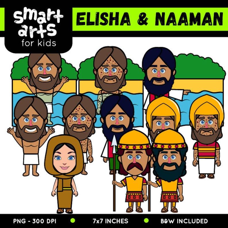 Elisha and Naaman Clip Art - bible based - bible characters - SVG - png  clip arts - instant download - bible story - Elisha and Naaman