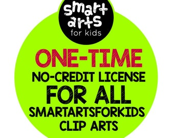 Smart Arts for Kids One-Time No-Credit Required Commercial License - one time deal - exclusive - all clip arts