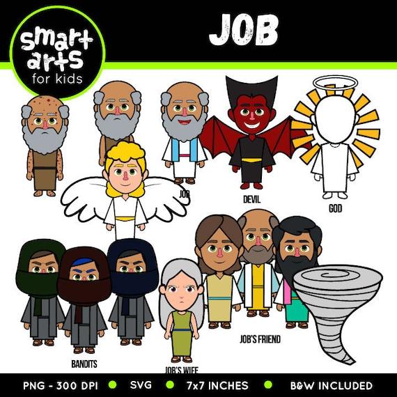 Job Clip Art Bible Based Bible Characters Svg Cricut Etsy