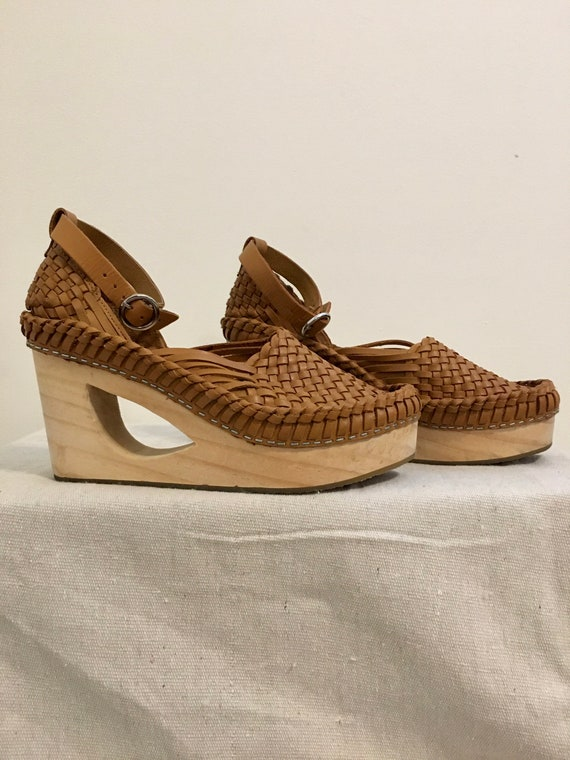 Huarache Clog/Wedges/Wedge Shoes/Wedge Sandals