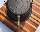 Wagner Ware High Based Wood Handled No8 Cast Iron Waffle Maker Pattern No 1408