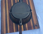 Vintage Unmarked Cast Iron high base waffle iron, favorite, Puritan, Chicago.