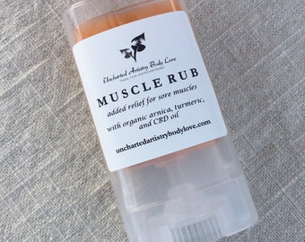 Organic Cayenne Infused Muscle Rub, Warming Pain Salve for minor Aches, Pains, and Strains, Herbal Infused Muscle Rub