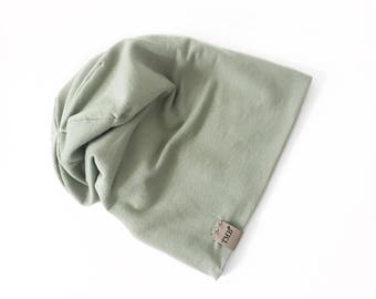 Powder Sage Green Beanie