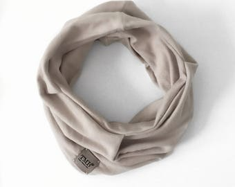 Powder Stone Gray Infinity Scarf