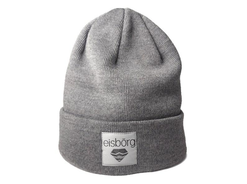 7b518596ab6 Ice-exchange Merino Beanie light grey-knitted hat made of