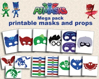 Instand DL PJ Masks Printable Party Photo Booth