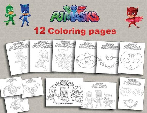 Instand DL 12 PJ máscaras para imprimir páginas para colorear | Etsy