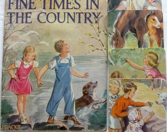 Vintage Coasters, 1950's Images from Fine Times in the Country Children's Book