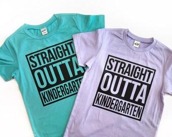 2bc97aa39 Straight Outta Kindergarten shirt, last day of school shirt, end of school  shirt, straight outta shirt, last day of school