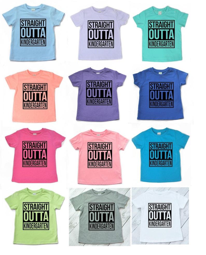 5be8b5368 Straight Outta PRE-K grade shirt last day of school shirt | Etsy